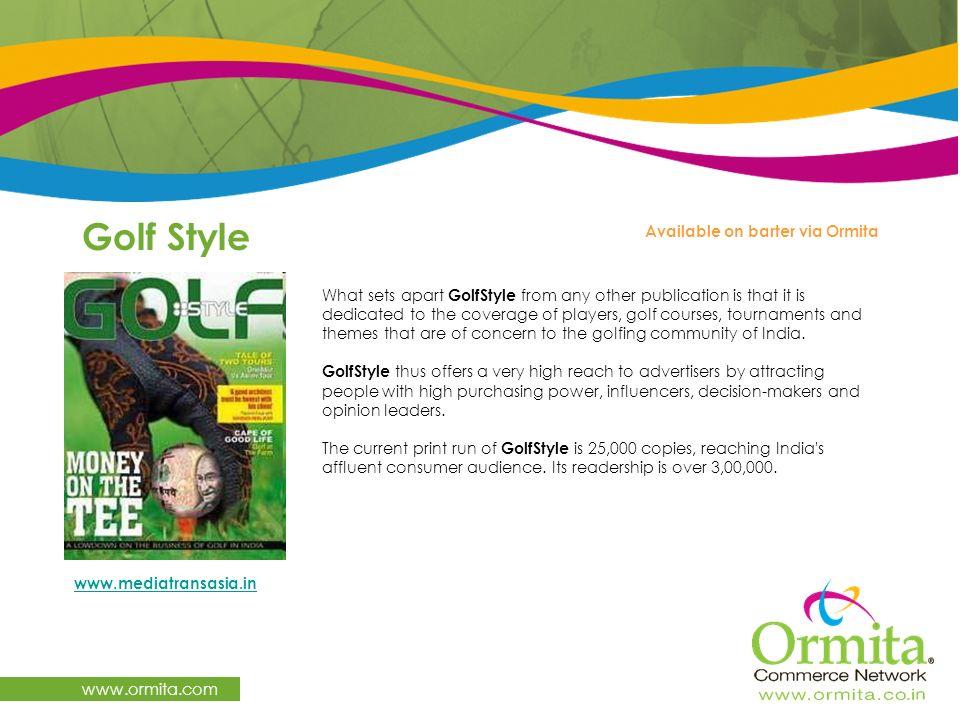 Golf Style www.ormita.com Available on barter via Ormita