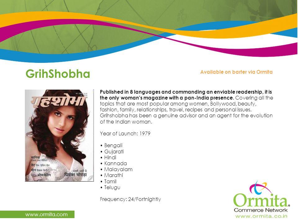 GrihShobha www.ormita.com Available on barter via Ormita