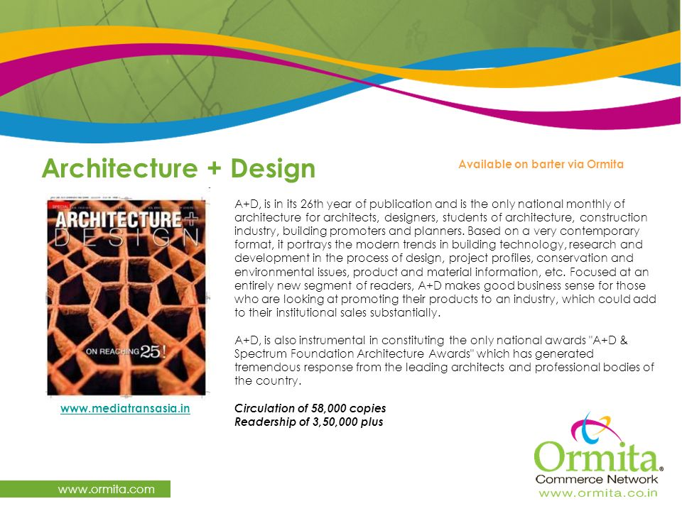 Architecture + Design   Available on barter via Ormita