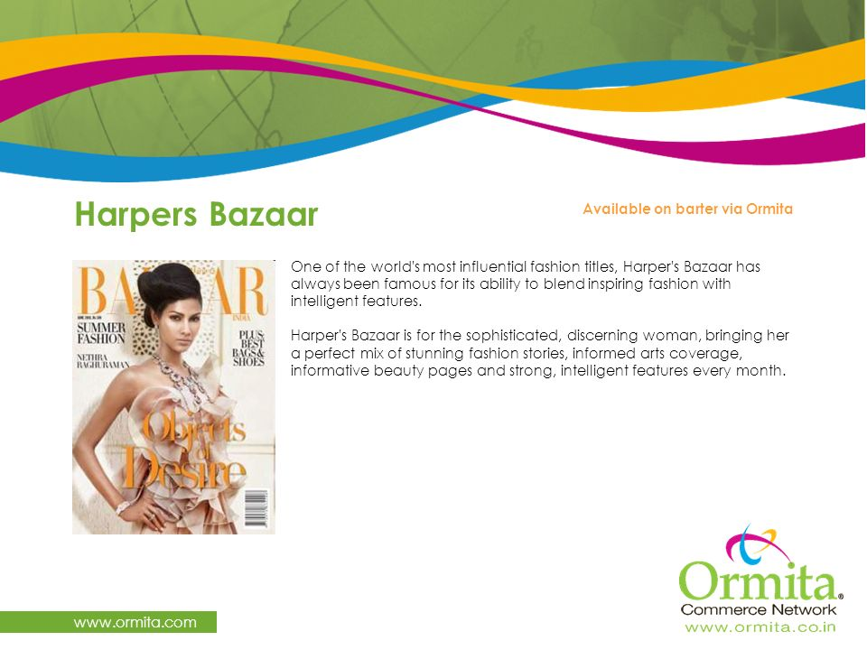 Harpers Bazaar   Available on barter via Ormita