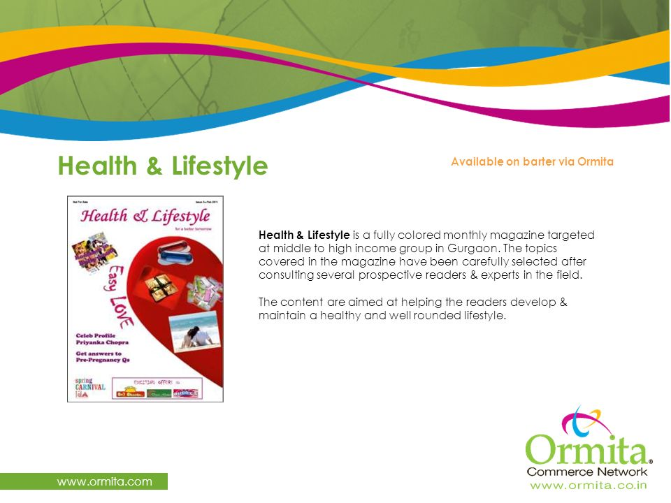 Health & Lifestyle   Available on barter via Ormita
