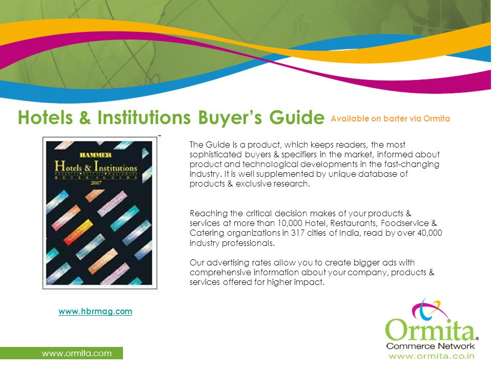 Hotels & Institutions Buyer's Guide