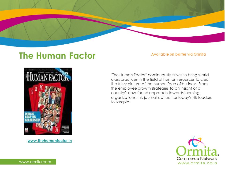 The Human Factor   Available on barter via Ormita