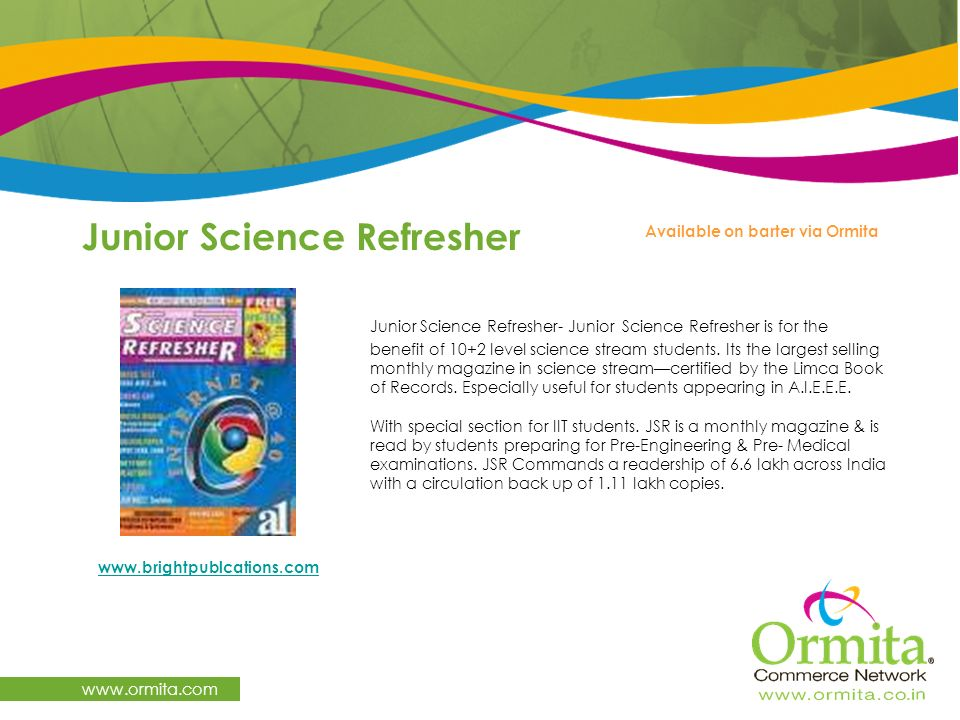 Junior Science Refresher