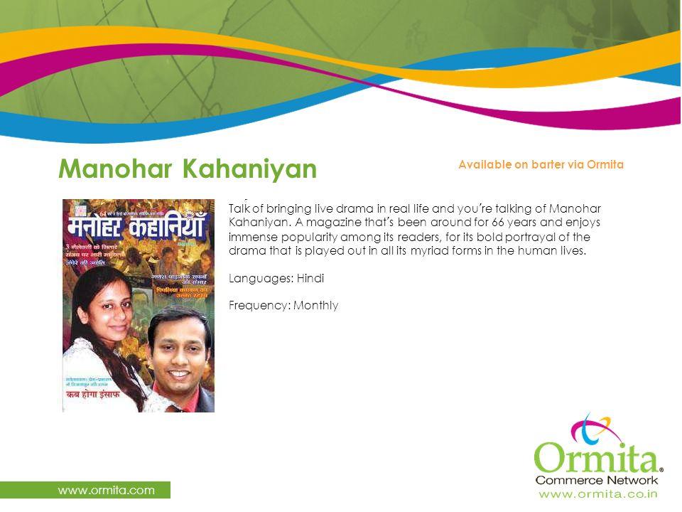 Manohar Kahaniyan www.ormita.com Available on barter via Ormita