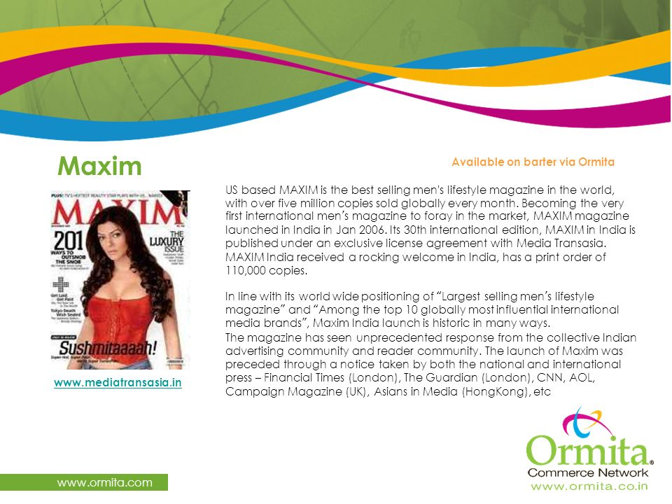 Maxim   Available on barter via Ormita