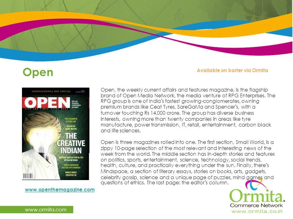 Open www.ormita.com Available on barter via Ormita