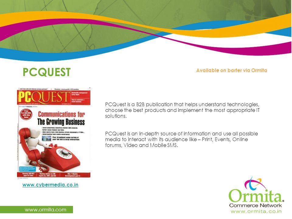 PCQUEST www.ormita.com Available on barter via Ormita