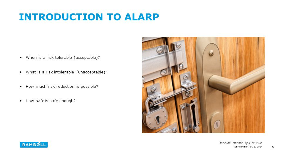 Introduction to ALARP Content slide, two columns with image