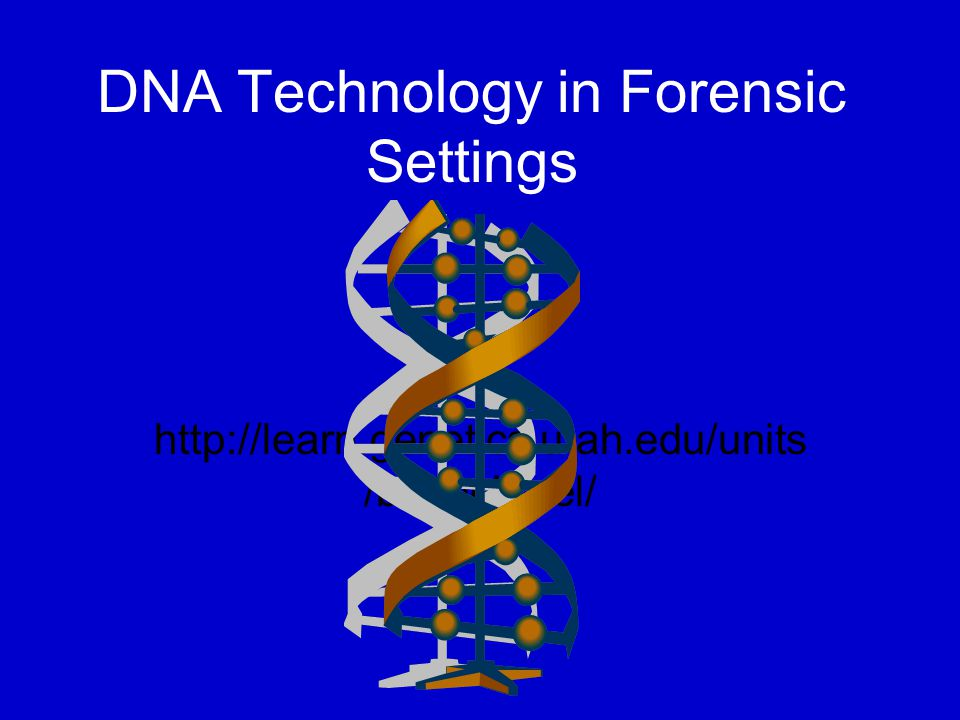DNA Technology in Forensic Settings