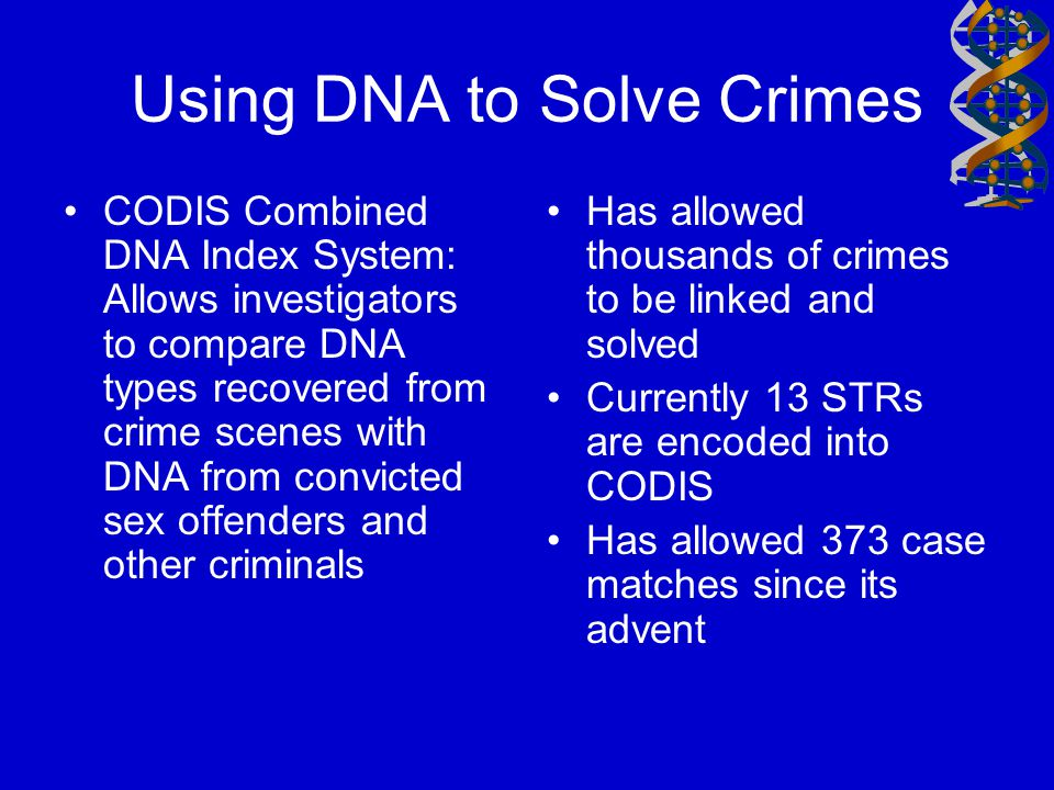 Using DNA to Solve Crimes