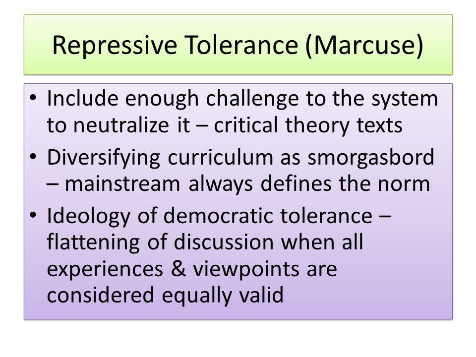 Repressive Tolerance (Marcuse)