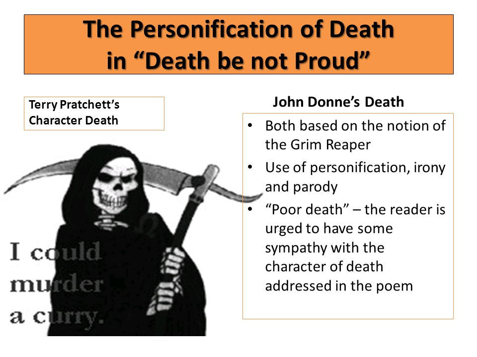 The Personification of Death in Death be not Proud