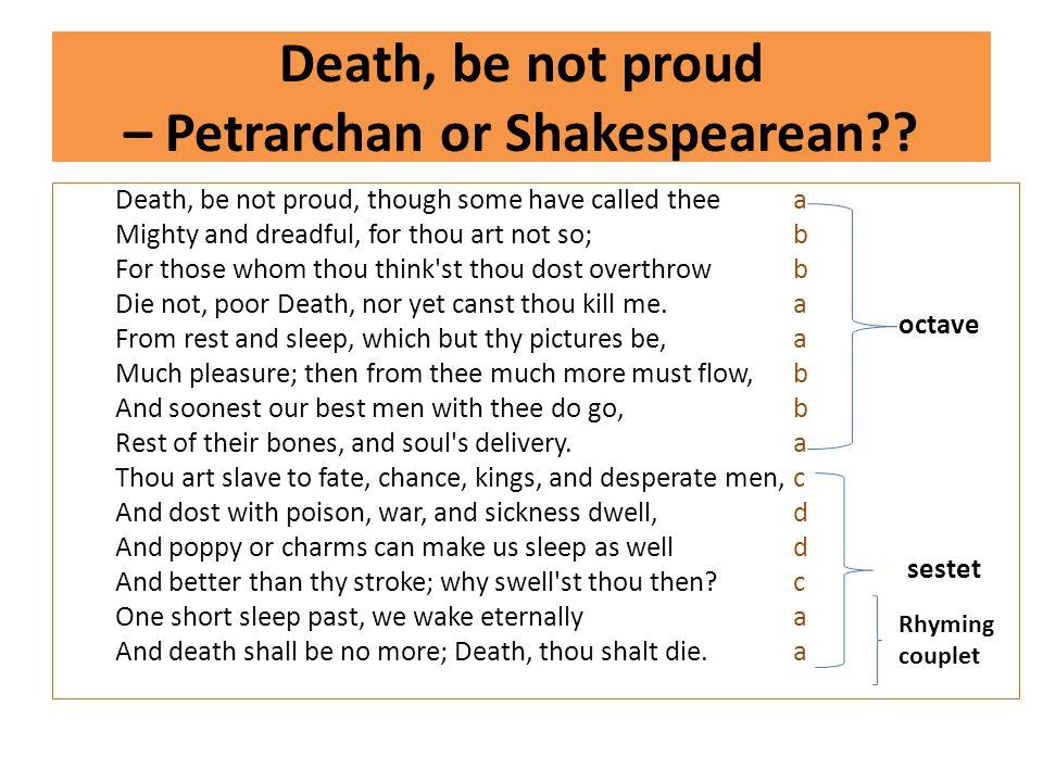 death be not proud john donne paraphrase