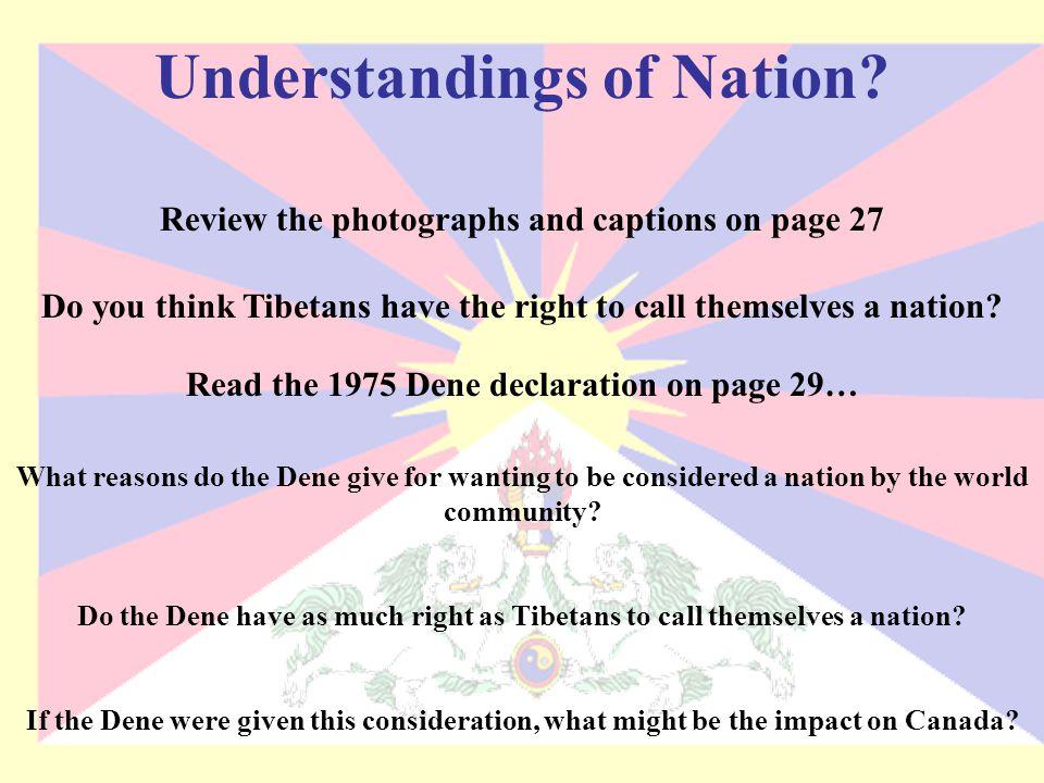 Understandings of Nation