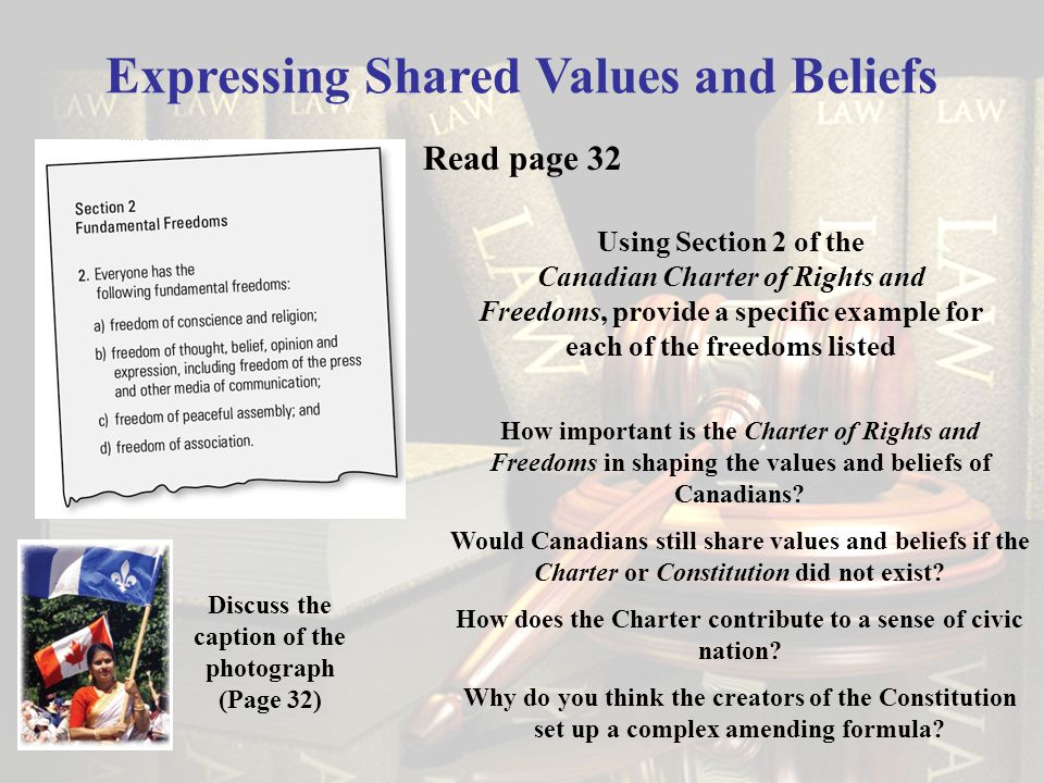Expressing Shared Values and Beliefs