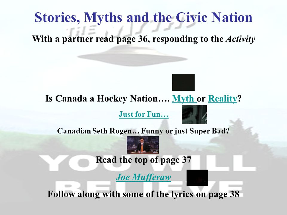 Stories, Myths and the Civic Nation