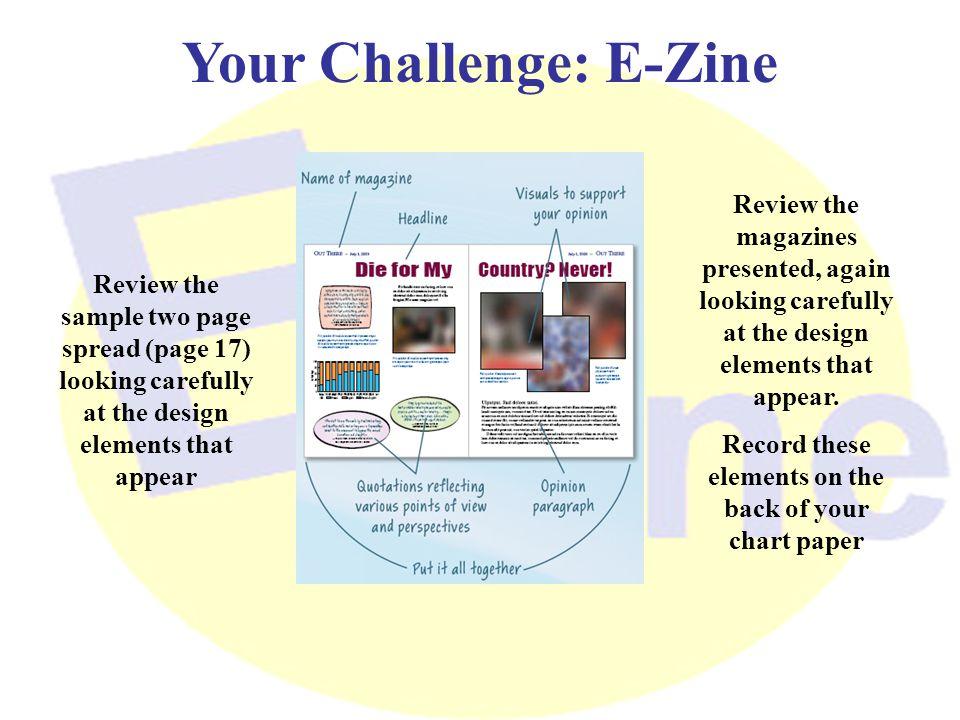 Your Challenge: E-Zine