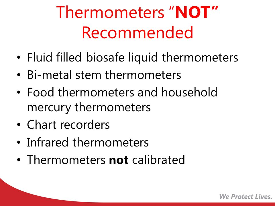 Thermometers NOT Recommended
