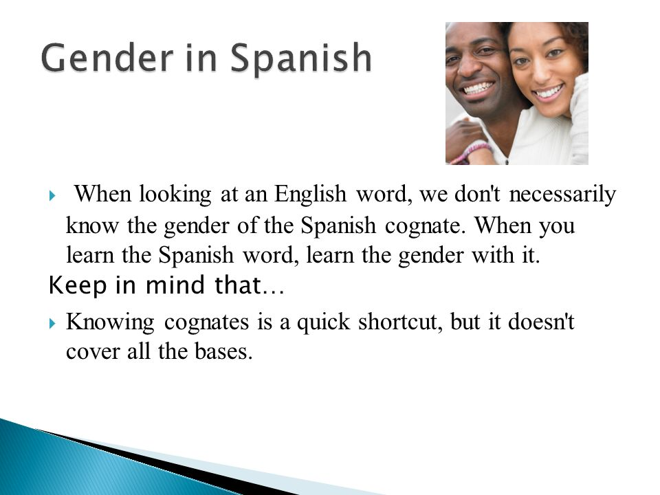 Gender in Spanish