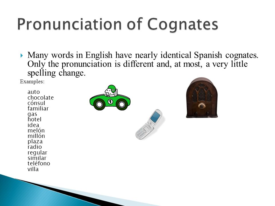 Pronunciation of Cognates