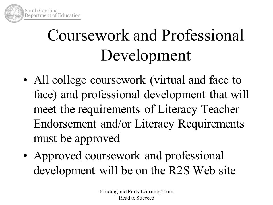 Coursework and Professional Development