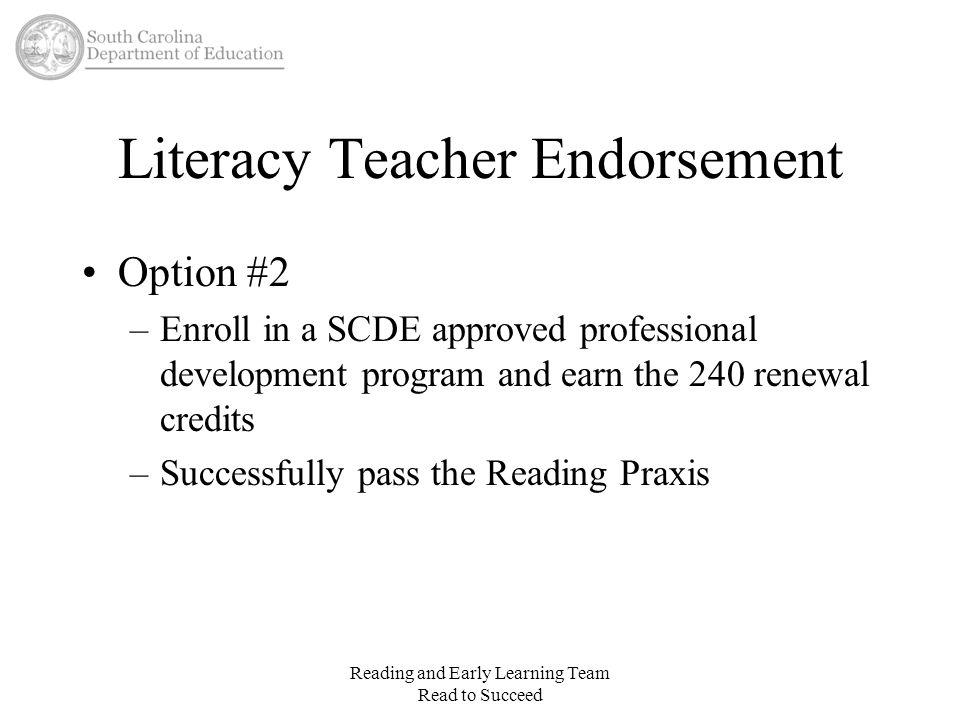 Literacy Teacher Endorsement