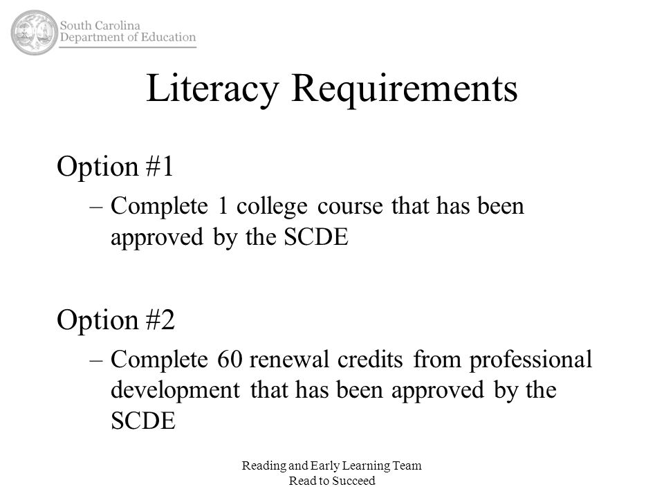 Literacy Requirements