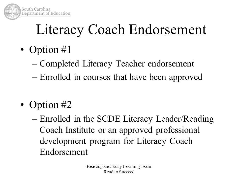 Literacy Coach Endorsement
