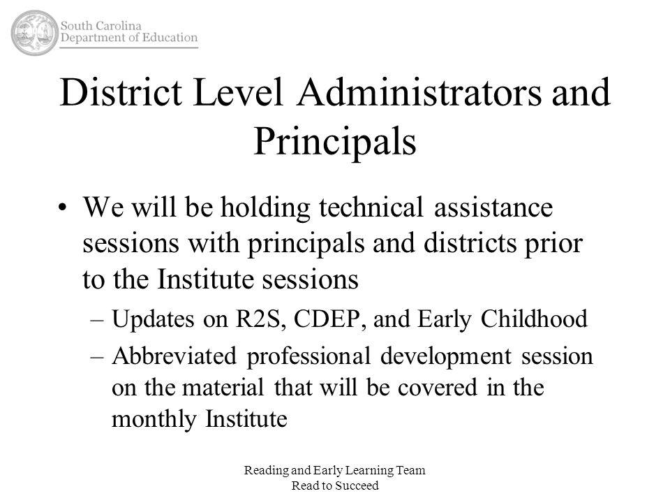 District Level Administrators and Principals