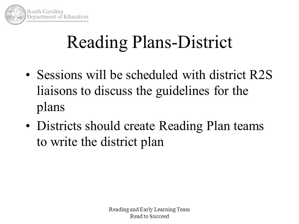 Reading Plans-District