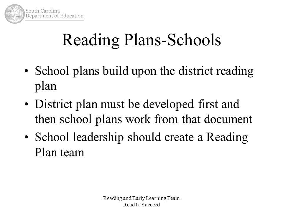 Reading Plans-Schools