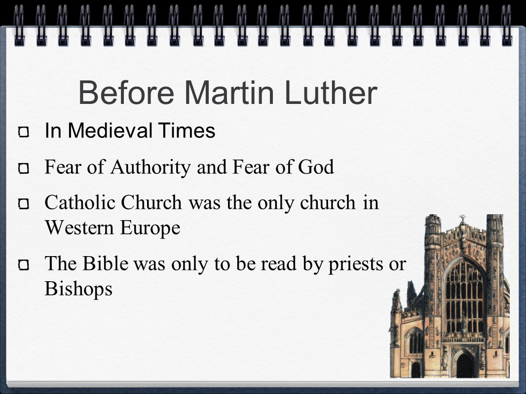 Before Martin Luther In Medieval Times