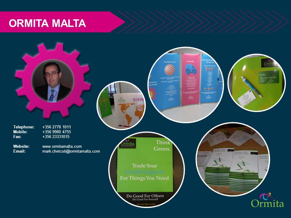 ORMITA MALTA Telephone: +356 2778 1011