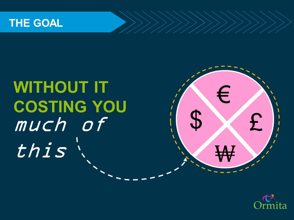 THE GOAL WITHOUT IT COSTING YOU € $ £ much of this ₩