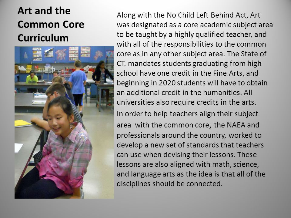 Art and the Common Core Curriculum