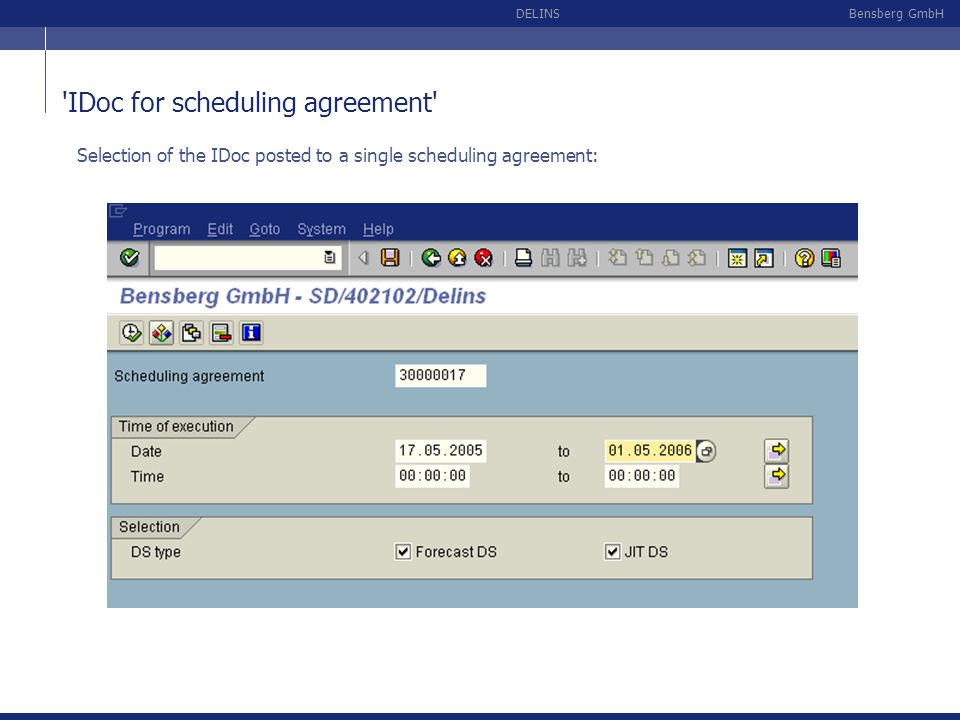 IDoc for scheduling agreement