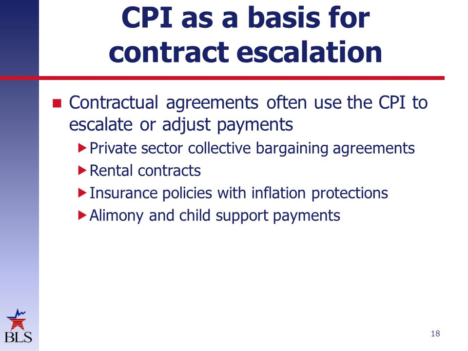 CPI as a basis for contract escalation