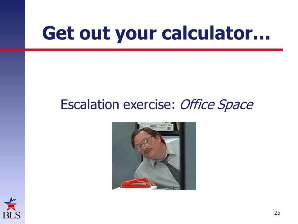 Get out your calculator…