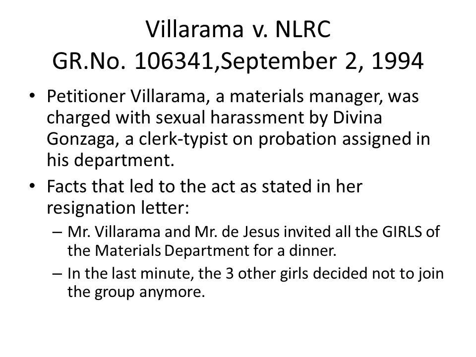 Villarama v. NLRC GR.No. 106341,September 2, 1994