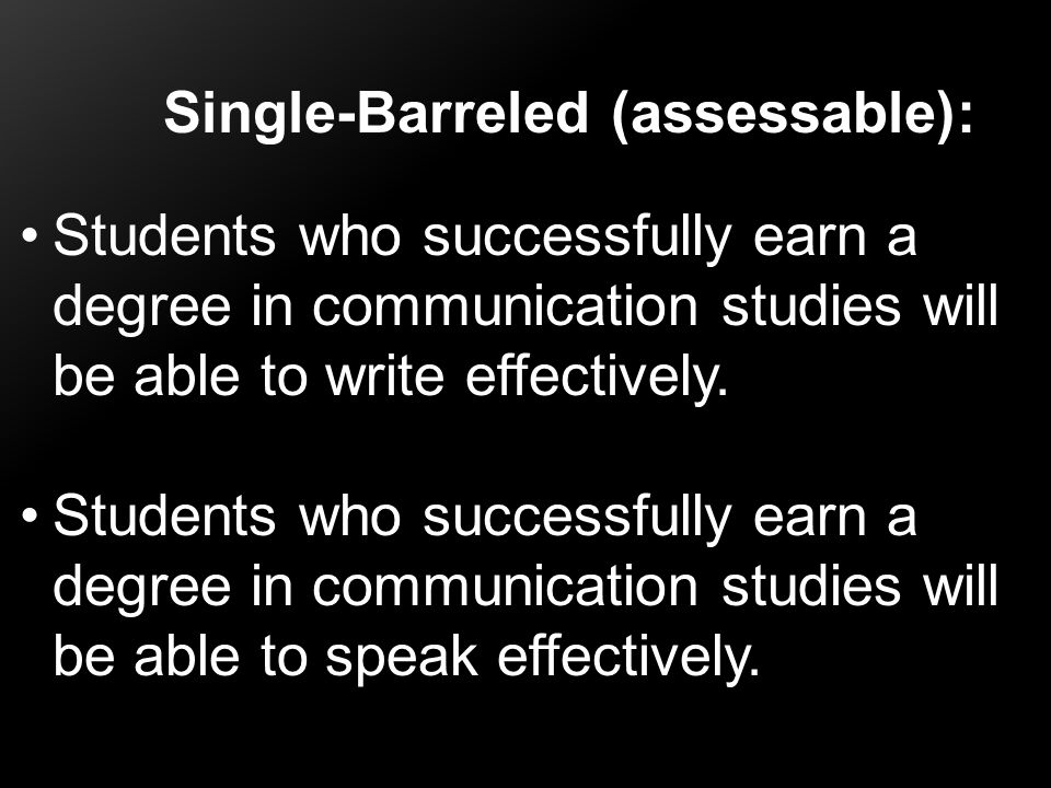 Single-Barreled (assessable):