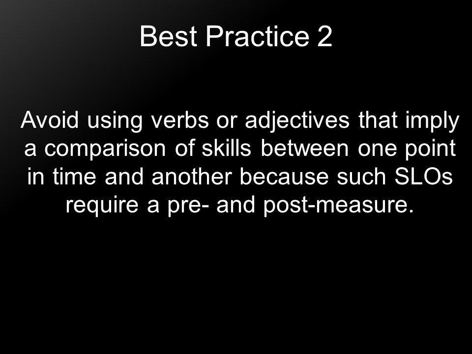 Best Practice 2