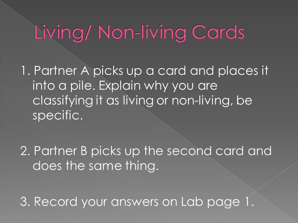 Living/ Non-living Cards