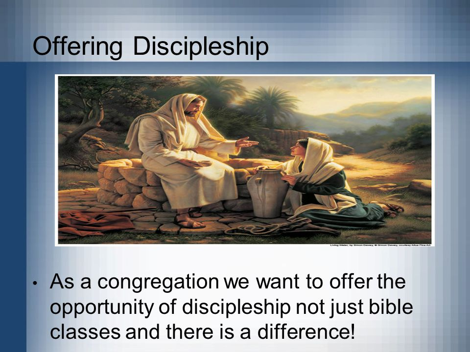 Offering Discipleship