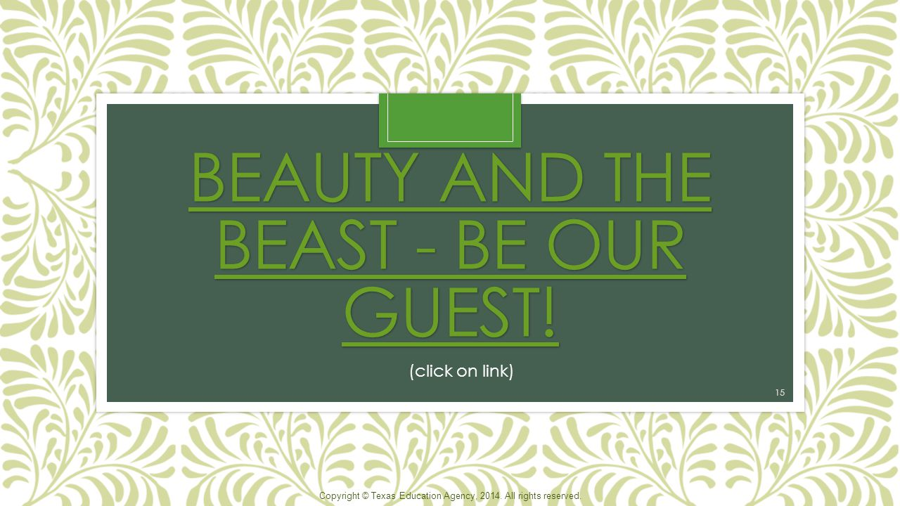 Beauty and The Beast - Be Our Guest!