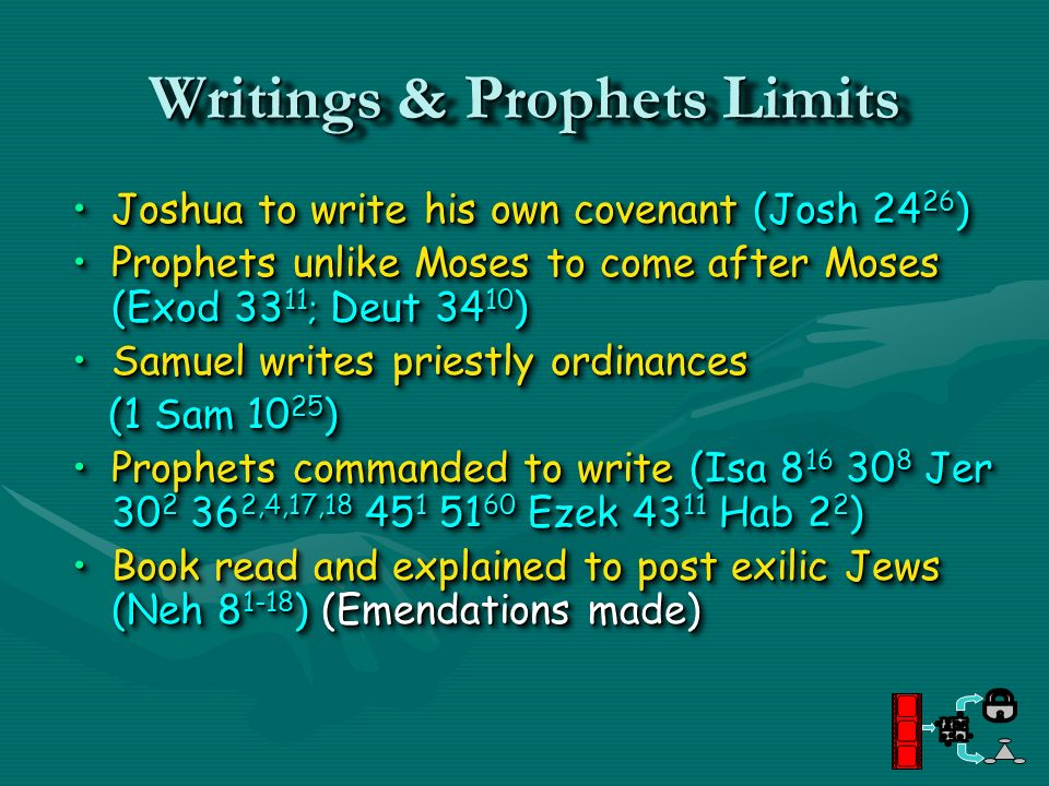 Writings & Prophets Limits