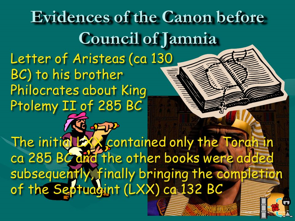 Evidences of the Canon before Council of Jamnia