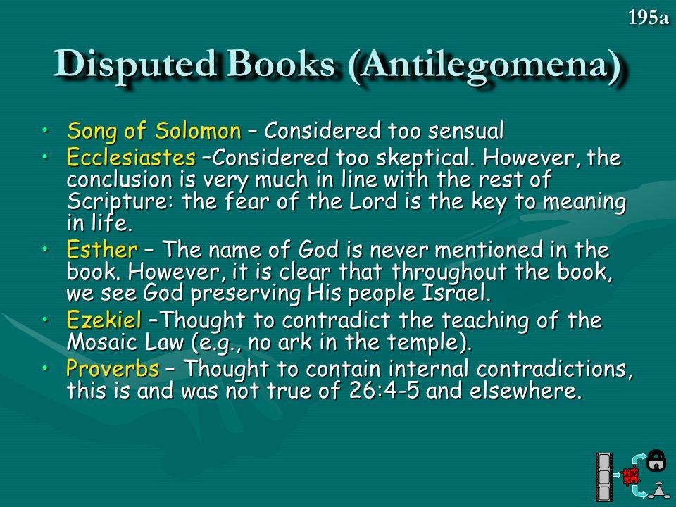 Disputed Books (Antilegomena)