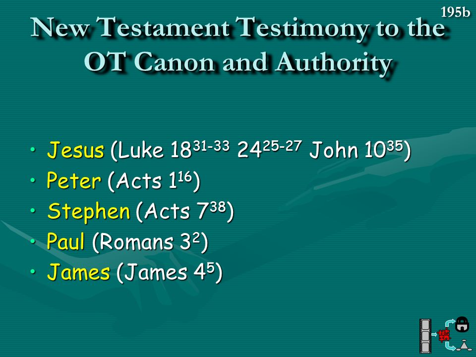 New Testament Testimony to the OT Canon and Authority
