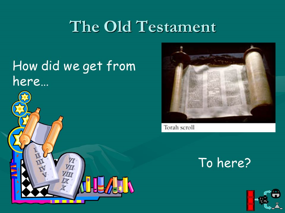 The Old Testament How did we get from here… To here